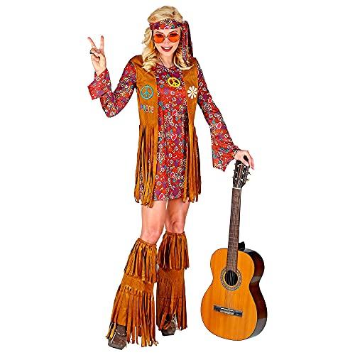 WIDMANN- Hippie Costume Donna, Multicolore, (L), 02863