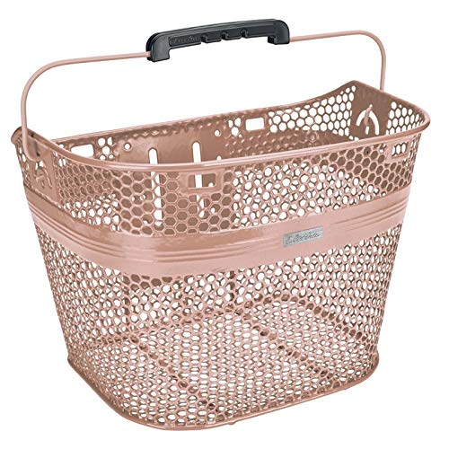 Electra Bicycle Electra Fahrradkorb Linear QR Mesh Basket, Metallic Rose Gold, 5409