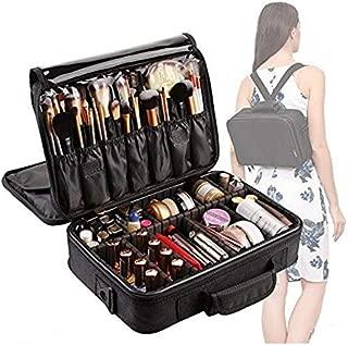 3 Layers Makeup Bag Travel Cosmetic Case Brush Holder Waterproof