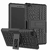 Xitoda Schutzhülle für Lenovo Tab E7, Hybrid-Panzerung aus Polycarbonat & TPU, mit Standfunktion, für Lenovo Tab E7 TB-7104F Tablet Schwarz