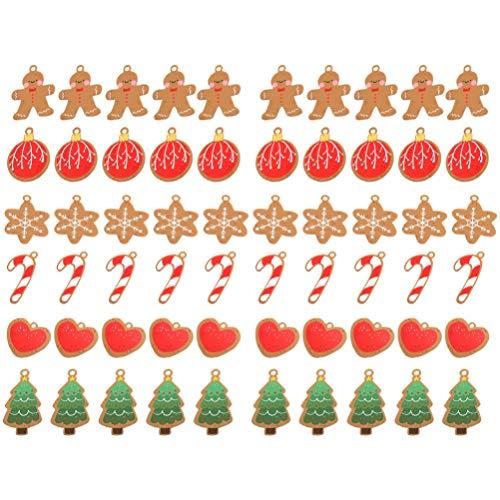 TOYANDONA 60Pcs Weihnachten Themenorientierte Hängende Tag Wunschkarten Grußkarten Präsentieren Geschenkanhänger Geschenkkarten Weihnachtsbaumdekoration