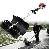 52CC 1700W 2,3PS 2-Takt Benzin Motorbesen Handheld Power Sweeper Kehrmaschine Schneeschieber Elektrisch Schneefräse Luftkühlung EU