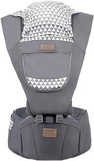 Ergonomische Babytrage mit H/üftsitz f/ür M/ädchen//Kinder Babyrucksacktragekind 6 bequeme und sichere Positionen maximal verstellbarer 48-Bund dunkelblau