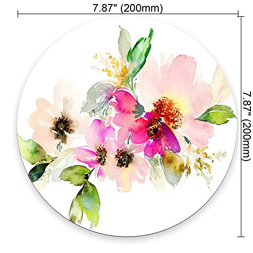 Beautiful Watercolor Flower Round Mouse pad Customized Non Slip Rubber Round Mouse pad Non Slip Rubber Mouse pad Gaming Mouse Pad Photo #5