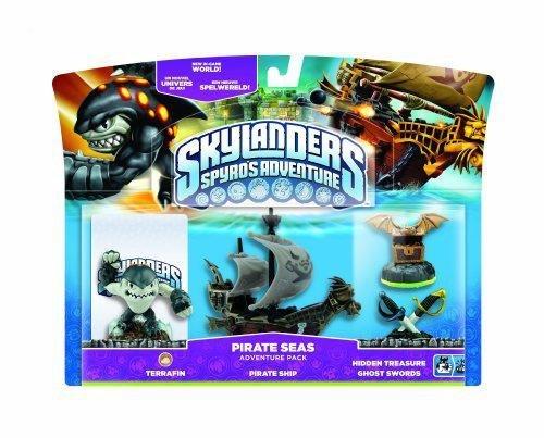 Figurine Skylanders: Spyro's adventure - Terrafin + Bateau pirate + Trésor Caché + Epée pirate