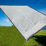 HH- Tela de Sombra 75% Sunblock Shade Cloth Net Resistente A Los Rayos UV, Lona De Malla para Sombra De Jardín para Cobertura Vegetal, Invernadero, Granero O Perrera, Láminas De Aluminio para Sombra