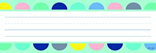 Creative Teaching Press Calm & Cool Half-Dots on Turquoise Name Plates, CTP 8599