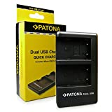 PATONA Cargador Doble para NB-2L Bateria Compatible con Canon PowerShot G7 G9 S80 EOS 400D MV800 MV950