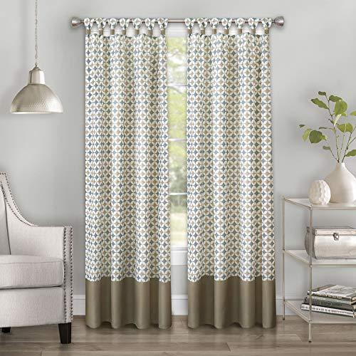 Achim Home Furnishings Callie Window Curtain, Taupe/Silver, 52' x 84'
