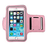 Baby Pink Armband Exercise Workout Case with Keyholder for Jogging fits Yota Yotaphone 2. for Arms up to 12 inches Big.