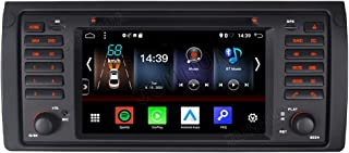 Junhua Android 10.0 2GB+32GB Carplay Android Auto Autoradio DVD GPS Navigation für BMW E39 E38 Unterstützt Fast Boot Bluetooth 5.0 WiFi 4G USB Subwoofer Mirrorllink AV Out