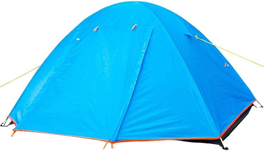 Tente De Camping Professionnelle Ultra Légère Double Couche De Tente Anti-tempête pour L'expédition d'escalade Extérieure, 2 Personne,bleu