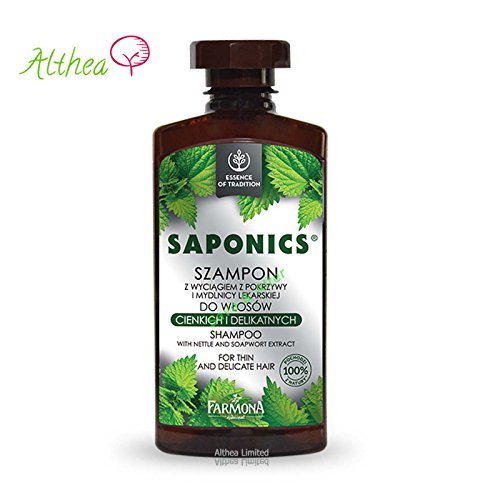 Farmona Saponics Shampoo with Natural Soapwort and Nettle Leaf Extracts for Thin and Delicate Hair by Farmona