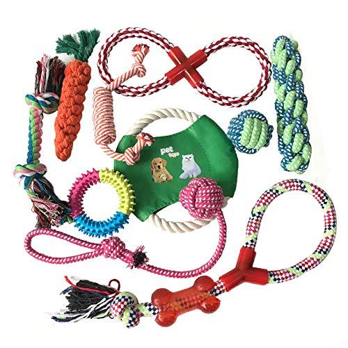Pejoye Welpenspielzeug, Molare Hundespielzeug Kauspielzeug Set für Hundewelpen Natur Geflochtenes Baumwollseil Spielzeug für Hunde zur Zahnreinigung und Vorbeugung von Zahnkrankheiten