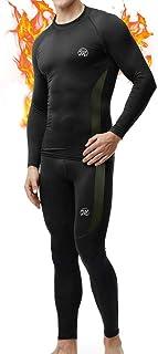 MEETWEE Ropa Interior térmica Hombre, Conjuntos térmicos, Camiseta Térmica Hombres Manga Larga Pantalones Largos para Esqu...