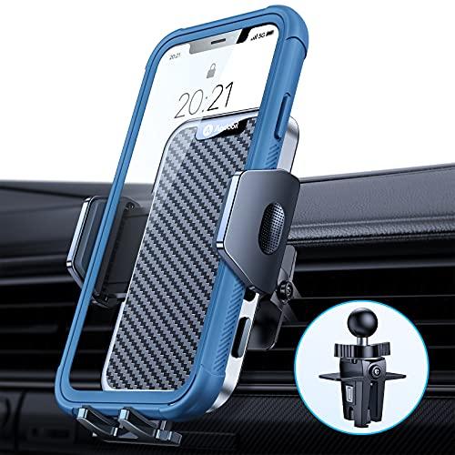 andobil Soporte para teléfono móvil rejilla de ventilación coche [mantiene a prueba bombas y 100% estabilidad] con clip metal todos los smartphones como iPhone/Samsung/Huawei/Xiaomi/OnePlus, etc.