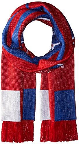 MLS FC Dallas Adult MLS SP17 3 Stripes Jacquard Scarf,OSFA,Red