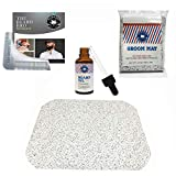 Gift Set for Men- Beard Grooming Kit with Hair Catcher for Beards and Pubic Hair, Complete Beard Shaping Tool with Comb and 2 Ounces Beard Oil Made of 10 Oils & Sandalwood - Manscape