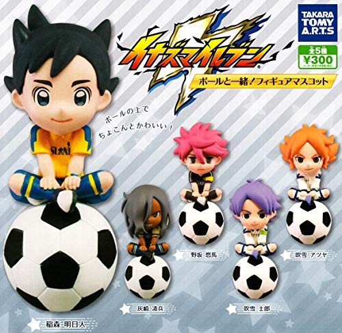TAKARATOMY A.R.T.S Inazuma Eleven balls together! Mascot Gashapon 5 set mini figure Toys Japan