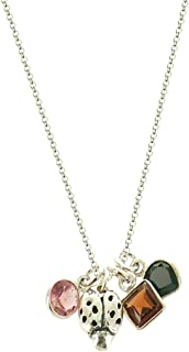 B.U. Jewelry b.u. Love, Luck and Unlimited Happiness Sterling Silver Charm Necklace 16-18