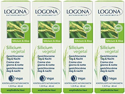 Logona Silicium Vegetal Crème pour le visage jour et nuit 4 x 40 ml