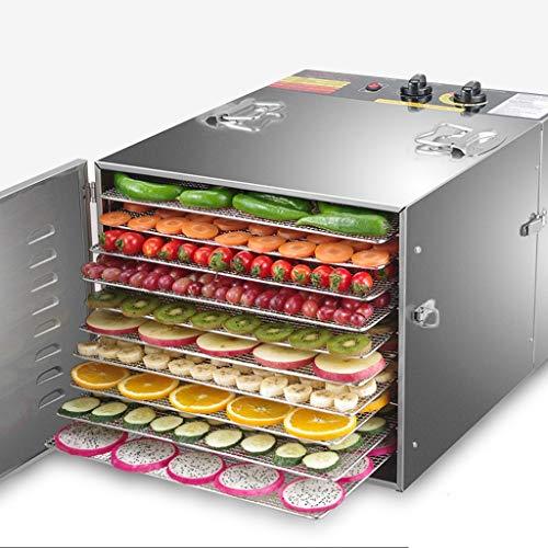 Elektrischer Dehydrator Für Lebensmittel 10-schichtige Konservierungsmaschine Für Fleisch Oder Trockenfleisch, Obst- Und Gemüsetrockner, Einstellbarer Timer Und Temperaturkontrolle