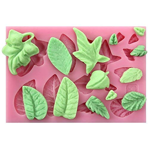 musykrafties Feuille Fondant Moule Silicone - 865 Assorti Mini Feuilles