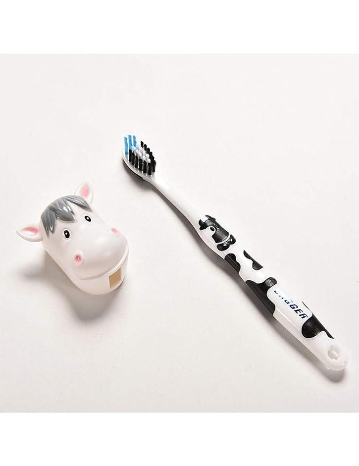 子供用歯ブラシリトルボーイガール歯ブラシ幼児用歯ブラシラブリー漫画牛うさぎ歯ブラシベビーシリコーン、A