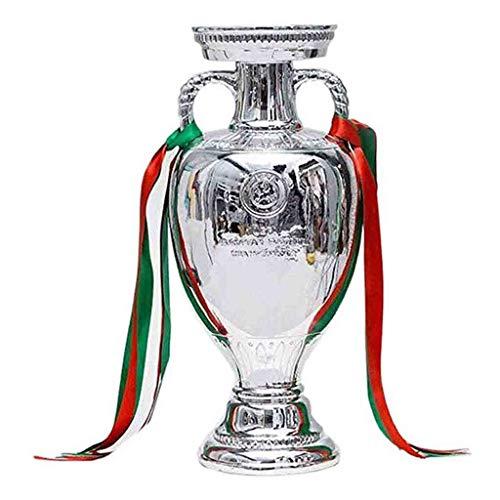 REWQ Supercopa Trofeo Endurance Cup ,2016 Trofeo de Europa: Recuerdo, se Puede Personalizar Resina, Aficionado al fútbol, artesanía de galvanoplastia, Modelo de Copa de fútbol, réplica de