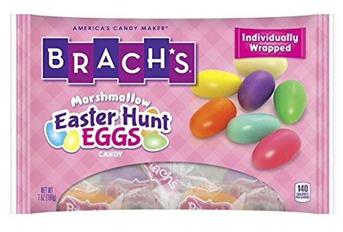 Brach's Marshmallow Easter Hunt Eggs Candy 7oz Bag (Pack of 6) Individually Wrapped