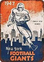 ブリキ看板1947ニューヨークフットボールジャイアンツヴィンテージコレクタブルウォールアート