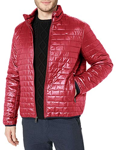 Tommy Hilfiger Men's Ultra Loft Sweaterweight Quilted Packable Jacket, Red, X-Large