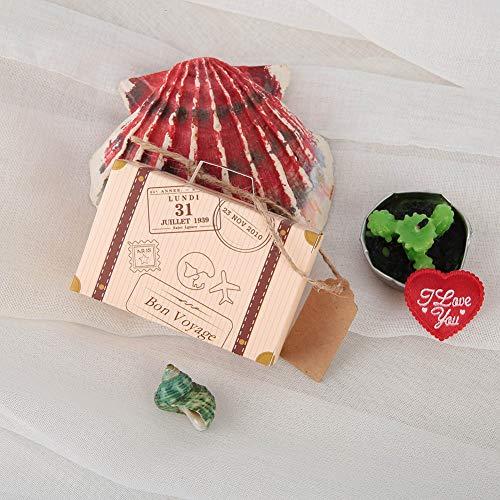 01 Bolsa de Regalo de Caramelo Retro, Caja de Regalo de Maleta Vintage, 3.15x1.18x1.97in 50 Piezas Mini para Viajes, Fiestas temáticas, cumpleaños para Bodas, Despedidas de Soltera
