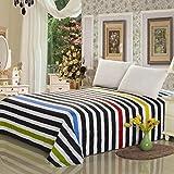 NIKIMI 100% Coton Biologique Drap de lit Simple Grand lit Double