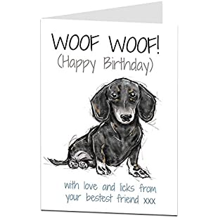 Dachshund Daschund Sausage Dog Wiener Birthday Card:Kumagai-yutaka