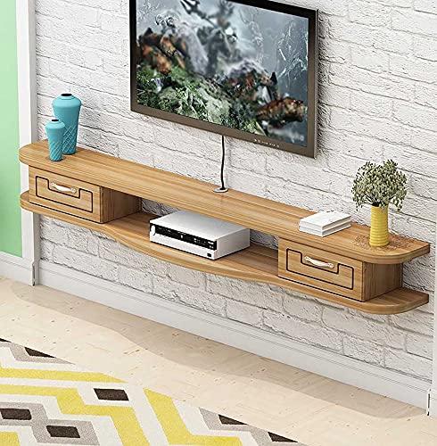 Mueble TV colgante,Mueble para TV Colgante,Estante para Componentes Soporte para TV Flotante Utilizado para el Dormitorio la Sala Estar Del Apartamento PequeñO/C/Los 140CM