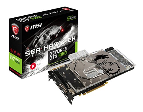MSI GeForce GTX 1080 Sea Hawk EK X - Tarjeta gráfica (Bloque Firmado por EK, Backplate, 8 GB Memoria GDDR5X, VR Ready)