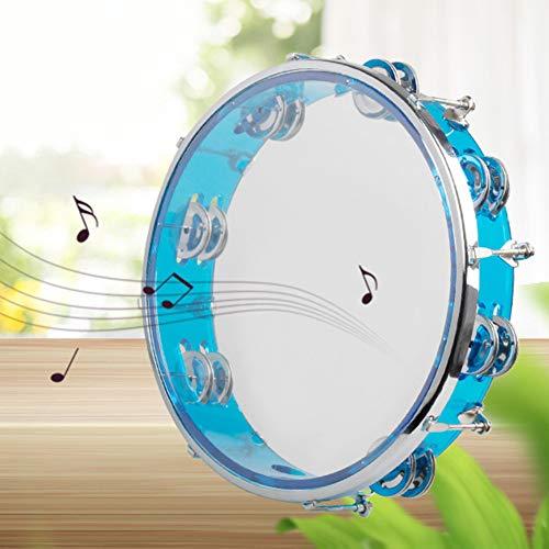 Allsunny Selbststimmendes Tragbares Tamburin-Schlagzeug-Party-Musikinstrument Blau
