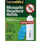 thermacell repellente per zanzare - ricarica da 4 cartucce di butano e 12 piastrine repellenti
