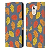 Official Haroulita Autumn Leaves Plants Leather Book Wallet