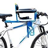 Sillas De Bicicletas para Niños Delantero Asiento De Seguridad Extraíble para Bebés con Delantera Reposabrazos Y Cojín Grueso para Bebés De 8 Meses a 6 Años Puede Cargar 50 Kg