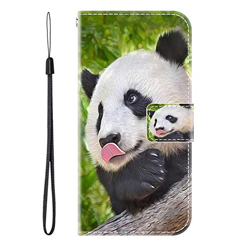 vingarshern Hülle für Ulefone Gemini Pro Handytasche Klappbares Magnetverschluss Lederhülle Flip Etui Standfunktion Schutzhülle Ulefone Gemini Pro Hülle Leder Brieftasche(Panda) MEHRWEG
