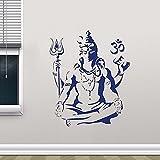 Calcomanías de vinilo para pared Shiva Dios hindú Religión PVC pegatinas artísticas muralistas usan arte mural pegatinas de pared calcomanías de arte A9 50x42cm