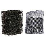 TRIXIE Kit Eponge + Charbon de Filtres Intérieurs pour Aquariophilie Taille M