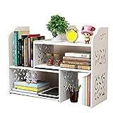Kekeciry Expandable White Desk Organizers and Accessories ,Fantastic Home Table Top Organizer Storage Bookshelf for Women Office Desktop Organization.