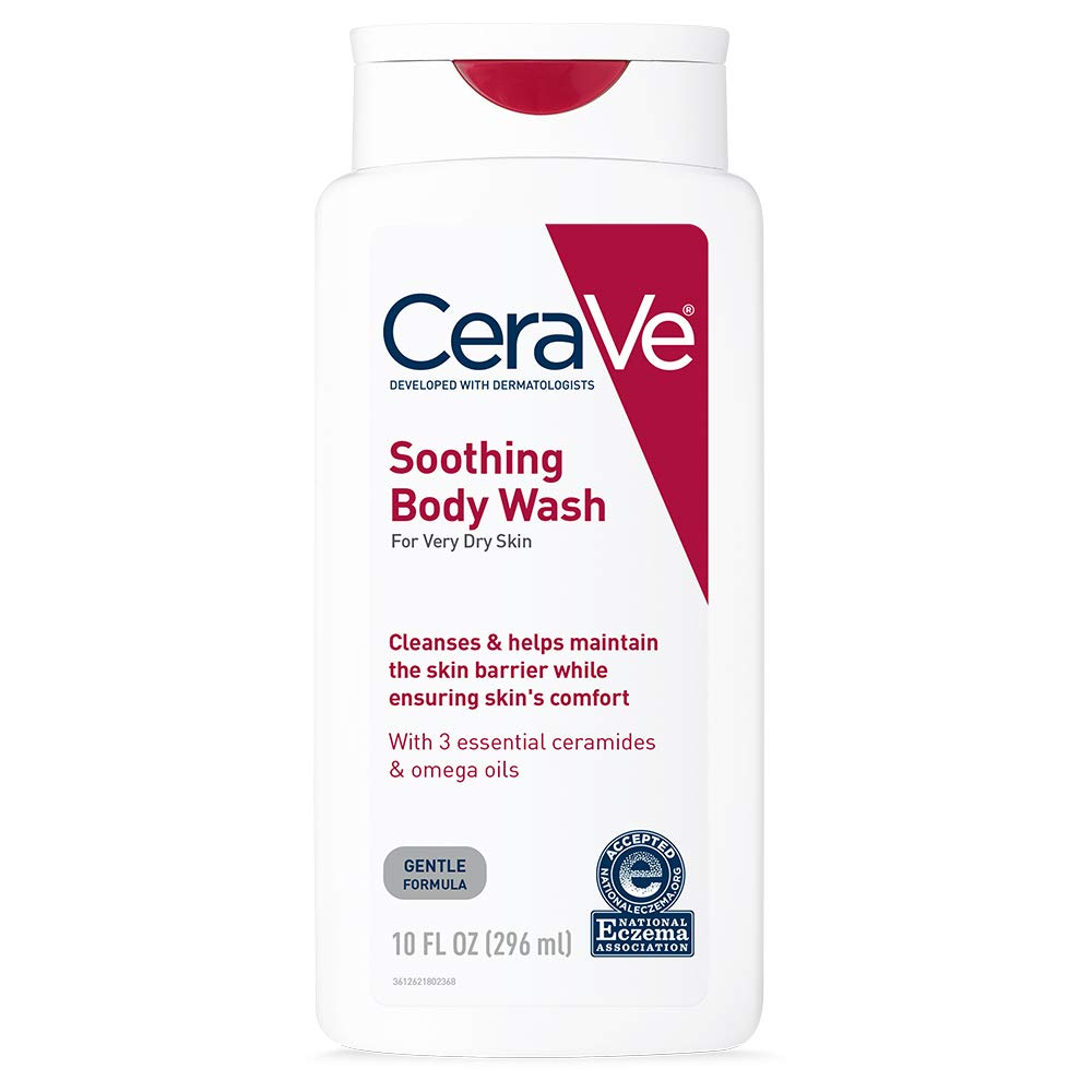 CeraVe Indefinitely Soothing Body Wash 10 oz Relief New color Dry Eczema Skin Tre