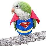 HEZHUO Traje de vuelo para loro – Ropa para pájaros, ropa de piloto con forro impermeable para mascotas, pájaros, guacamayos, cacatúas (XL)