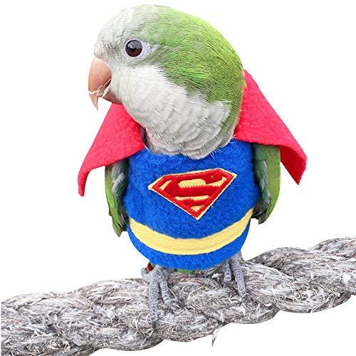 HEZHUO - Tuta da volo per pappagalli, abbigliamento da pilota per uccelli, con fodera impermeabile per animali domestici e uccelli, taglia 3XL