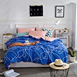 1-1 Parure de lit Sets de Housses de couettes 4 Pcs, imprimé Coton - Doux Résistant...