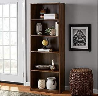 3-Adjustable Shelves | Orion Wide 5-Shelf Bookcase | 2 Fixed Shelves (Oak, 1)